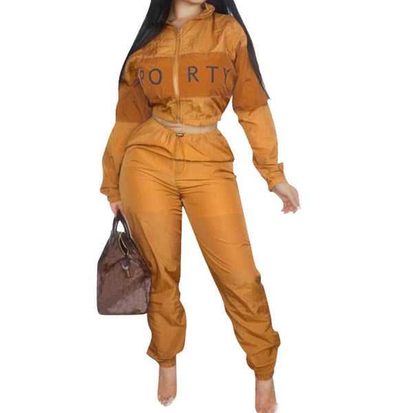 2018 Plus Size 2 Two Piece Set Women Clothes Patchwork Zip Tops+Bodycon Pants Sweat Suit Casual Outfits Matching Sets Tracksuit
