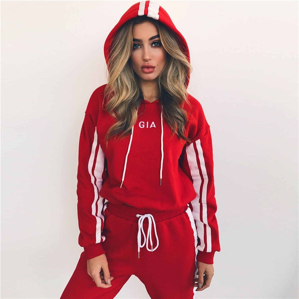Autumn Winter Sport Suit Women Tracksuits  Pullover Top Shirts Running Set Jogging Suits Sweat Pants 2pcs Sportswear