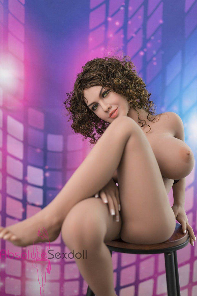 Kirst 140cm 4ft6 Curly Hair Mini Sex Doll