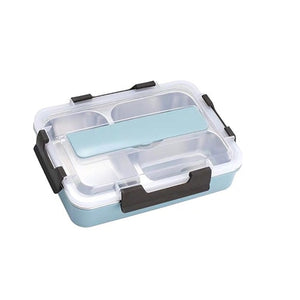 Microwaveable Lunch Box With Spoon Thermal Leak-proof