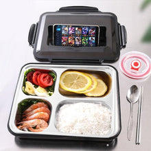 Load image into Gallery viewer, Large Bento Box with Cutlery