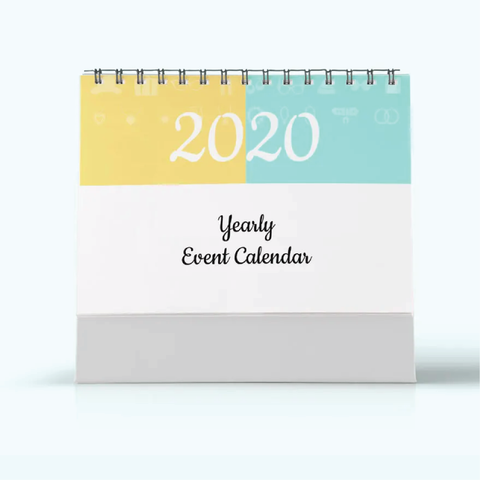 Free Yearly Event Desk Calendar Template - Zipsite