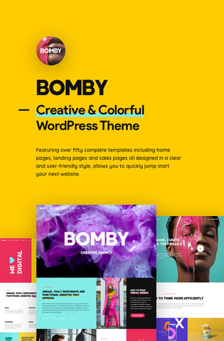 Bomby - Creative Multi-Purpose WordPress Theme - Zipsite