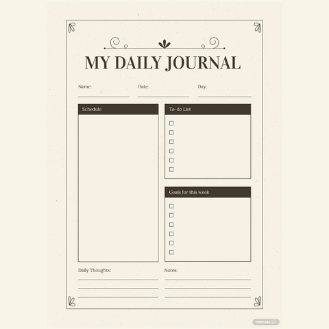 Free Vintage Journal Template - Zipsite