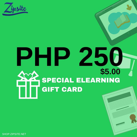 Zipsite Digital Gift Card - Give and Receive Free Ebooks and Ecourses - Zipsite