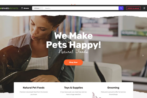 Pets Land Theme - Zipsite