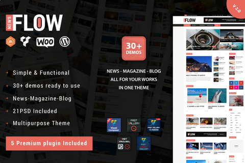 Flow News Theme - Zipsite