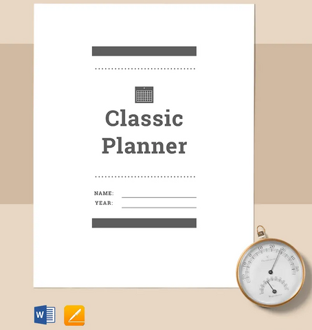 The Classic Planner Printables - Free Printables - Zipsite