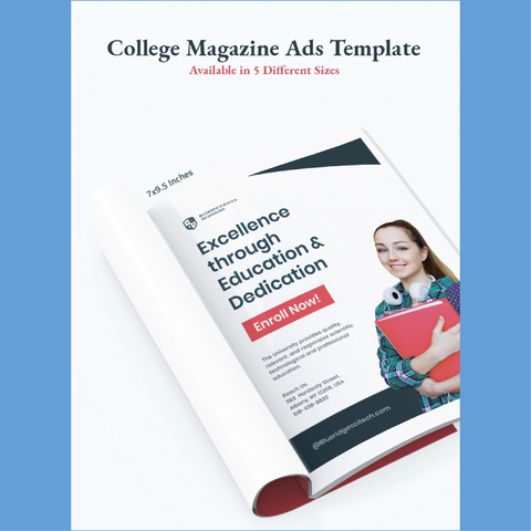 Free College Magazine Ads Template - Zipsite