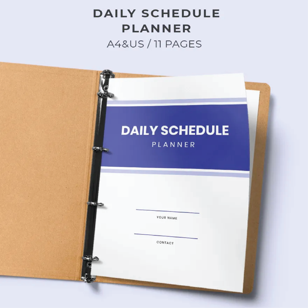 Daily Schedule Planner and Checklist Template - Zipsite
