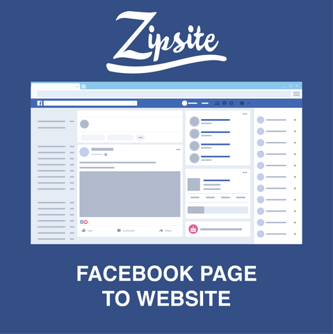 Facebook Page to Website - Zipsite