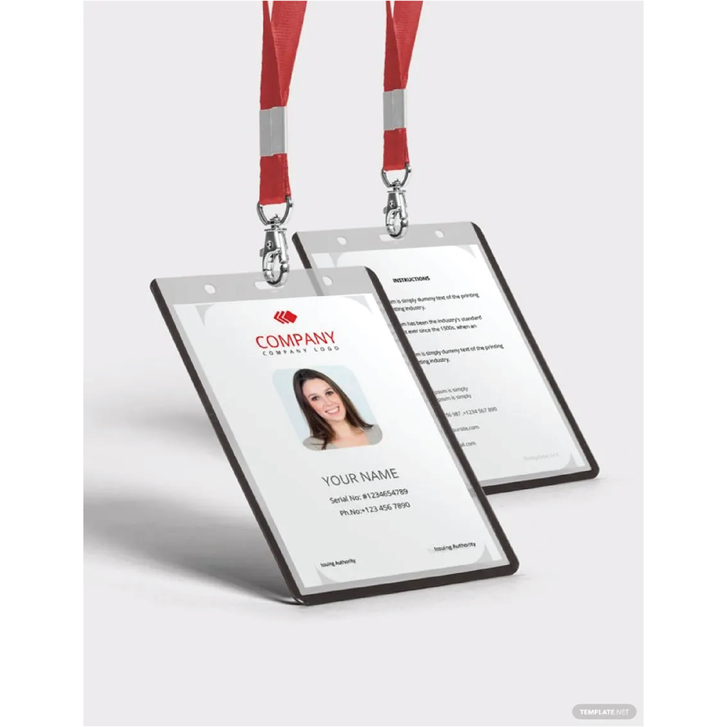 Free Worker ID Card Template - Zipsite
