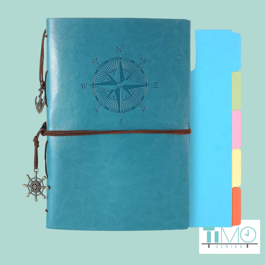 Vintage Leather Journal, Refillable Notebook - Zipsite