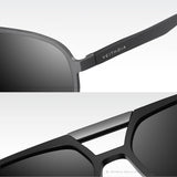 Mens Aluminum Magnesium Photochromic Sunglasses Polarized UV400 Lens