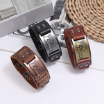 New Retro Cuff Genuine Leather Wrap Wide Bracelets