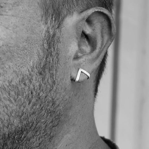 Fashion Triangle Punk Rock Stainless Steel Men Earrings