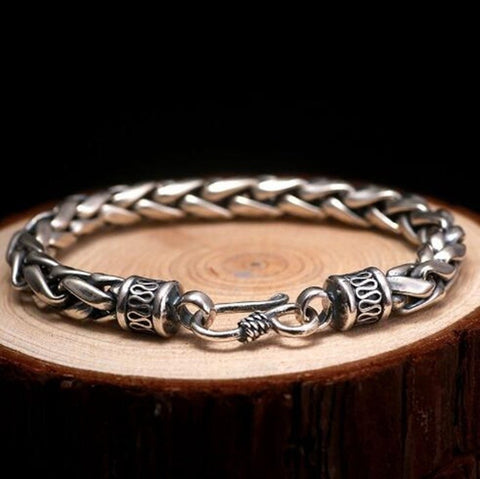High Quality Metal Vintage Biker Chain Men Bracelet
