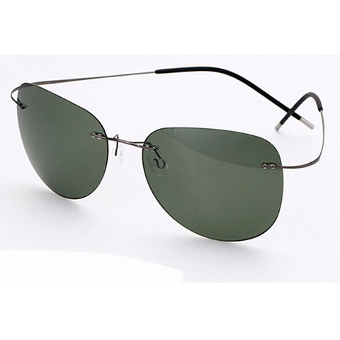 100% Titanium Polarized Sunglasses Rimless Design
