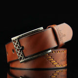 Good Quality Luxury Leather Men Pin Buckle Belt
