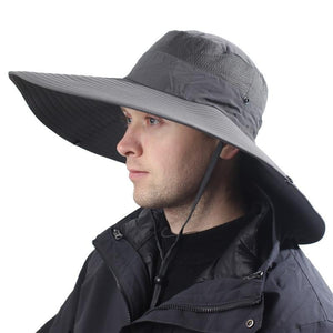 14cm Super Large Wide Brim Bucket Hat Breathable Quick Dry