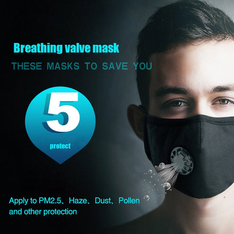 Anti Dust Virus Washable PM2.5 Mask with Adjustable Straps