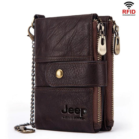 100% Genuine Leather Rfid Blocking Wallet