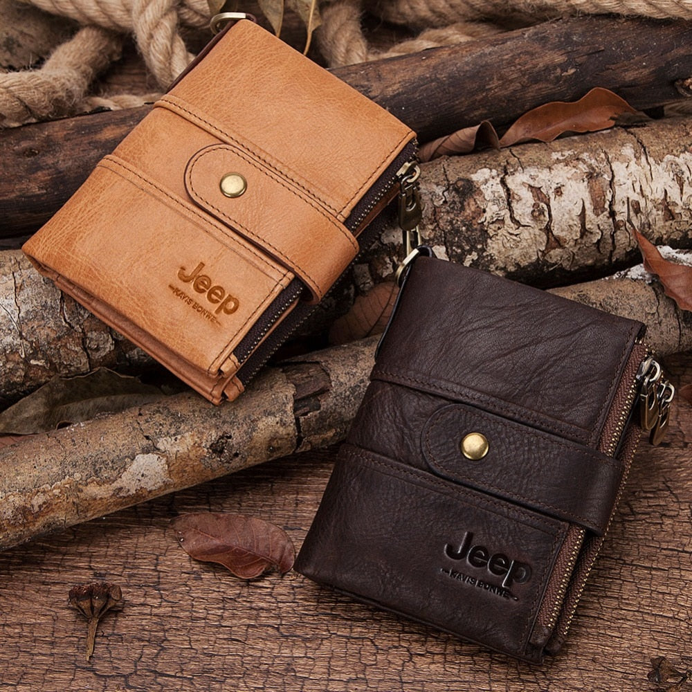 100/% Genuine Leather Rfid Wallet Men Crazy Horse Wallets Coin Purse Short Male M