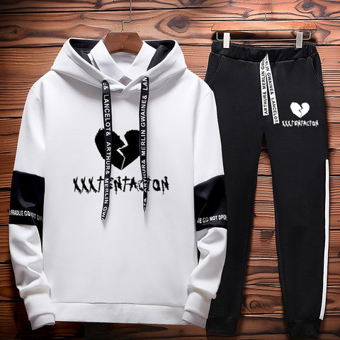Revenge Kill Hip Hop Hoodies Sweatshirts And Sweatpants Two Piece Set Hooded Suit Velvet