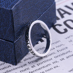 New Fashion 925 Sterling Silver Simple Punk Rock Hip Hop Silver Ring