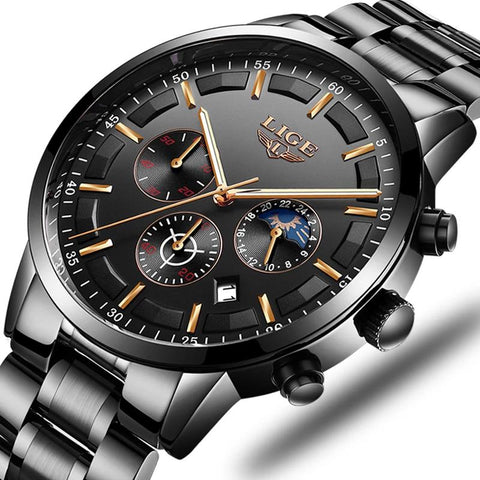 Fashion Luxury Business Sports Waterproof Quartz Watch