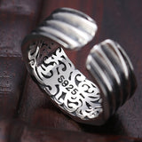 Street Culture Eye of God Adjustable Ring 100% Real 925 Sterling Silver