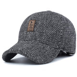 Warm Thickened Cotton Snapback Cap Ear Protection for Men