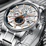 Luxury Business Fashion Waterproof Chronograph Wristwatch