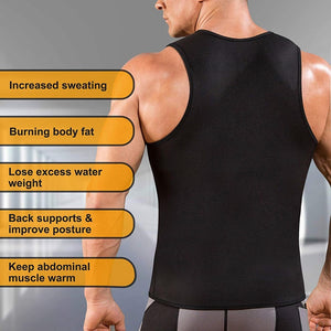 New Men Suit Body Shaper Corset for Weight Loss with Zipper