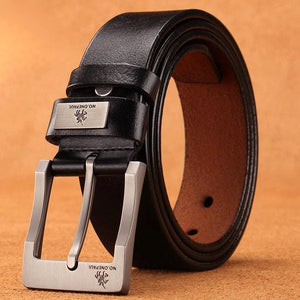 Genuine leather luxury men belt pin buckle High Quality