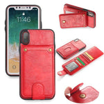 Brand New Design Flip Leather Back Case for iphone X 8 7 6