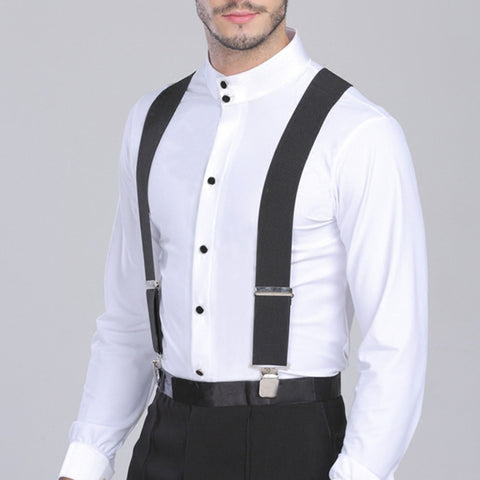 50mm Wide Elastic Adjustable Men Suspenders X Shape with Strong Metal Clip