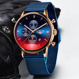 2020 Luxury Fashion Military Waterproof Clock Male Casual Mesh Belt Sport Quartz Watch