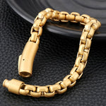 Never Fade Gold Stainless Steel Men Bracelet
