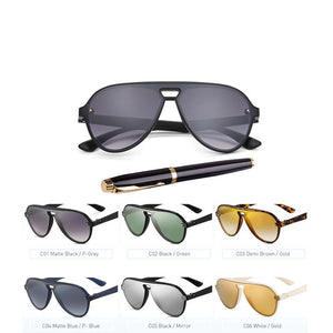 Vintage Polarized Sunglasses Temple Design