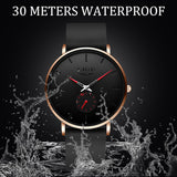 2020 Luxury Ultra Thin Classic Quartz Wristwatch Silicone Strap