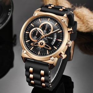 2020 Luxury Mens Quartz Watch Silicone Strap Waterproof Luminous