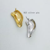 925 Silver Pin 3D Stereoscopic Earlobe Earrings for Men Women