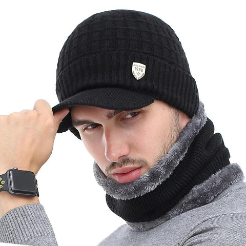 Wool Scarf Cap Skullie Beanie For Men Women