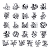 NEW 925 Sterling Silver Vintage 26 Letter Alphabe Bead Charms Fit Bracelets