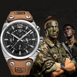 Big Dial Military Waterproof Quartz Watch