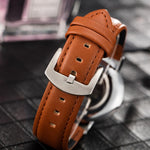 Luxury Men and Women Business Quartz Watch Genuine Leather