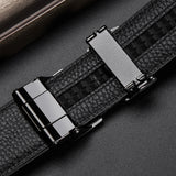 Luxury Genuine Leather High Quality Men Belt Automatic Alloy Buckle