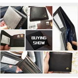 Genuine Leather Men Wallet Luxury Bifold Wallet Zipper Coin Purse