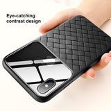 Weaving Leather Grid Pattern Case For iPhone X/XS/Max/XR